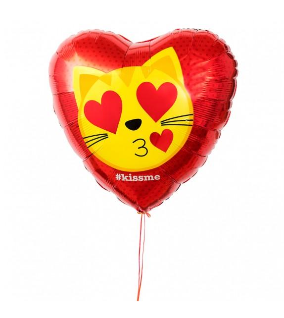 """Ballon coeur """"Kiss me"""""""
