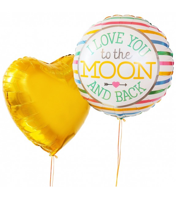 Ballons Love you to the moon and back