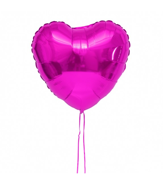 Ballon coeur rose
