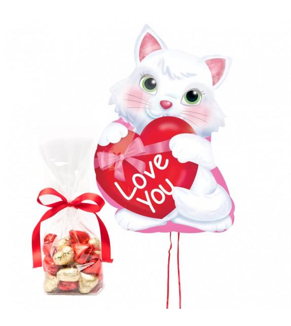 Ballon Mimi d'Amour et ses chocolats