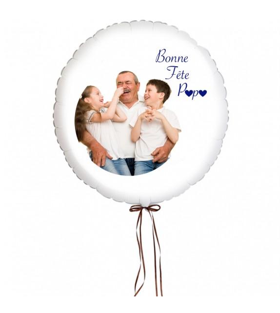 Ballon personnalisé avec photo pour Papa