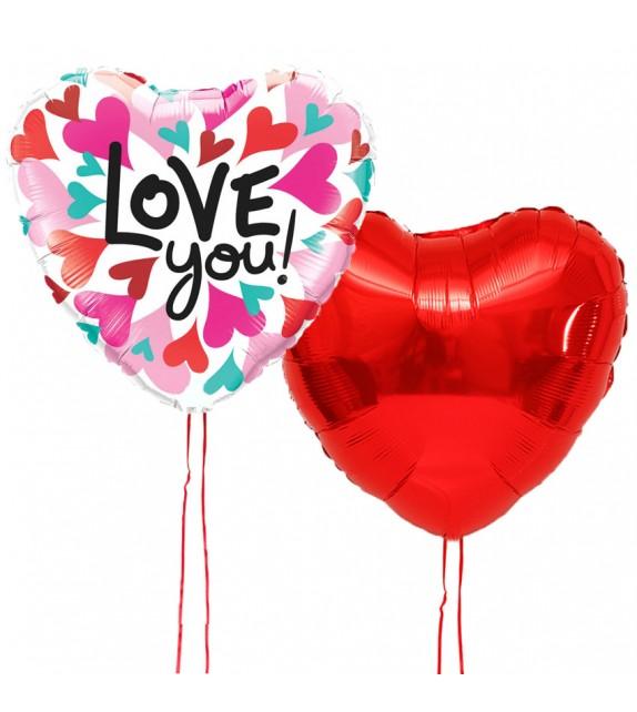 Duo de ballons Love