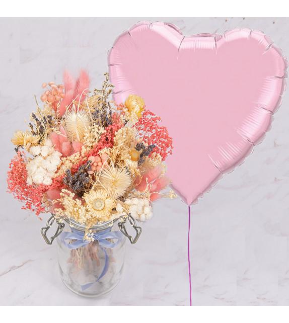 Ballon et fleurs
