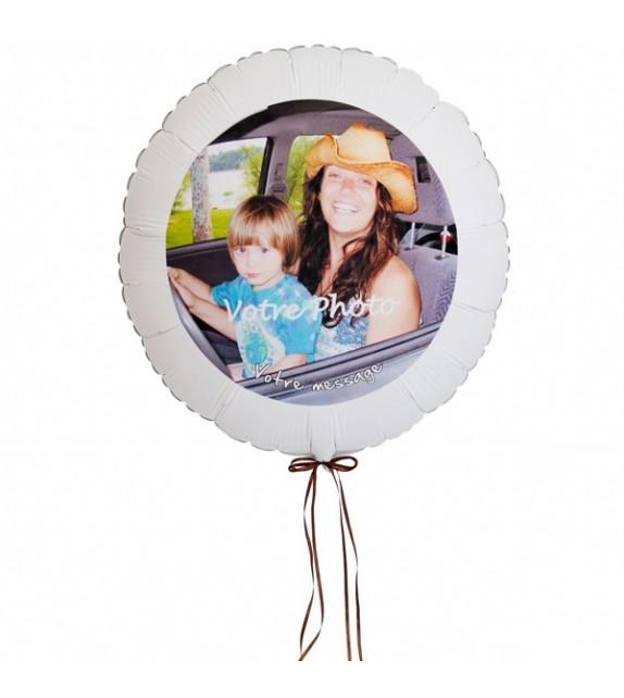 Ballon personnalisé avec photo et message