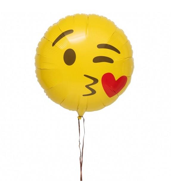 livraison ballon Emoji Bisous