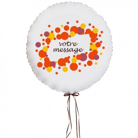Ballon personnalisé avec message