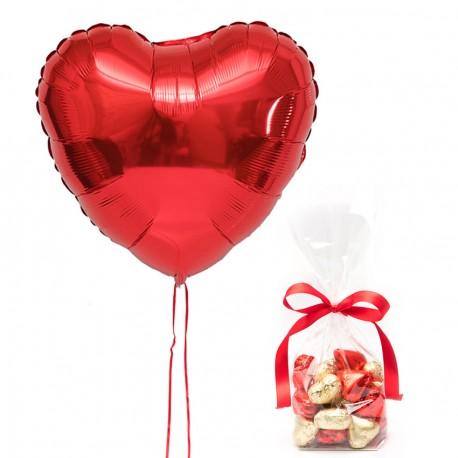 Ballon et Coeurs en Chocolat